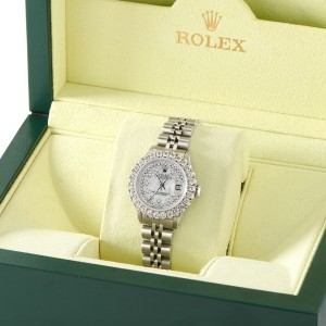 Rolex Datejust Steel 26mm Jubilee Watch 2CT Diamond Bezel / Royal MOP Dial