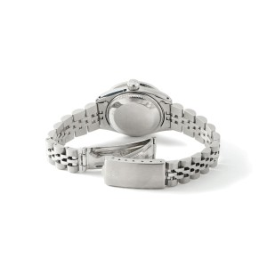 Rolex Datejust Steel 26mm Watch Rhodium Grey Baguette 1.3CT Diamond Bezel & Dial
