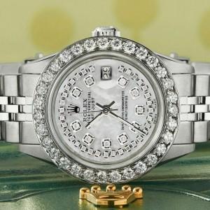 Rolex Datejust Steel 26mm Jubilee Watch Royal MOP 1.3CT Diamond Bezel & Dial