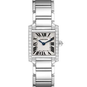 Cartier Tank Francaise 18K White Gold Diamond Ladies Watch