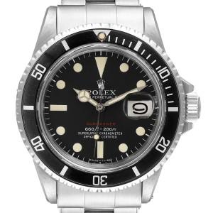 Rolex Submariner Vintage Black Mark V Dial Steel Mens Watch