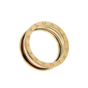 Bvlgari B.ZERO1 3 band ring in 18k rose gold AN852405 size 58 - USA 8.5