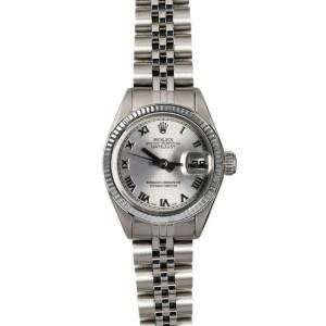 Rolex Datejust 26mm 6916 Women's Silver Roman White Gold 26mm 1 Year Warranty