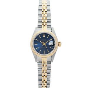 Rolex Datejust 26mm 6917 Women's Blue Index Yellow Gold 26mm 1 Year Warranty