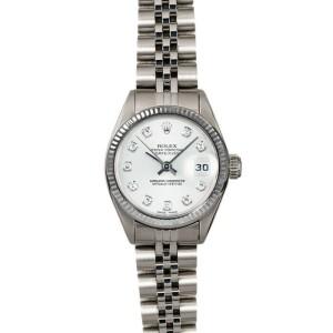 Rolex Datejust 26mm 6916 Women's White Diamond White Gold 26mm 1 Year Warranty