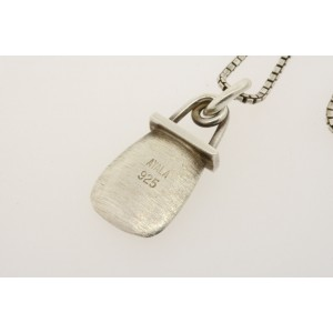 """Ayala Pendant Necklace Sterling Silver Box Chain 24"""""""