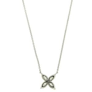 TIFFANY Victoria .81 carat diamond necklace in platinum size large