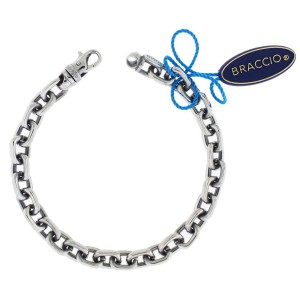 Braccio SS3884 BR Men's bracelet in Stainless Steel 24 inches long