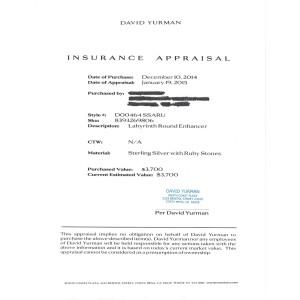 "David Yurman Labyrinth Disc Pendant Enhancer Large 2.5"" Ruby $3700 Special Order"