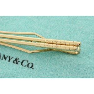 """Tiffany & Co. Golf Clubs Money Tie Clip 14k Yellow Gold Vintage 3"""" 11.1g Rare"""