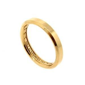 David Yurman 18k Gold Beveled Wedding Band Ring 4mm Yellow 8.75 Rose 10.5