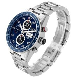 Tag Heuer Carrera Blue Dial Chronograph Steel Mens Watch CV2A1V
