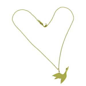 Roberto Coin diamond flying Goose necklace in 18k  yellow gold
