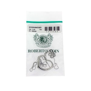 Roberto Coin 18k white gold heart necklace