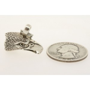 Vintage Sterling Silver Charm Eagle Head US Post Office 3D Logo Bird