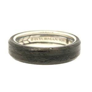 David Yurman Sterling Silver Forged Carbon Streamline Wedding Ring Band 6mm 8mm