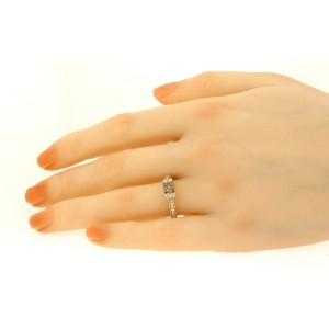 Levian Engagement Ring 14k Rose Gold 3/4ct Chocolate Diamond Vanilla sz 7.25
