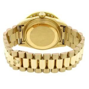 Rolex President Day-Date 18K Yellow Gold 36mm w/3.65ct Diamond Bezel Watch 18038