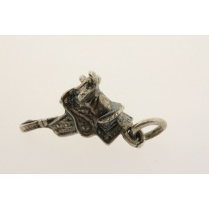 Vintage Sterling Silver Charm small Saddle Horse Western Cowboy Indian