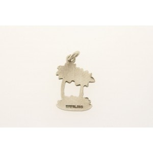 Vintage Sterling Silver Charm 2 Palm Trees