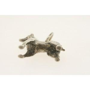 Vintage Sterling Silver Charm 3D Tall Standing Dog Pointer Doberman