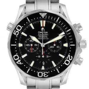 Omega Seamaster 300M Chronograph Americas Cup Watch 2594.50.00 Card