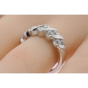 Leo Diamond Ring Band 1.11ct HI VS 14k White Gold 2 Row Channel Set sz 6.75