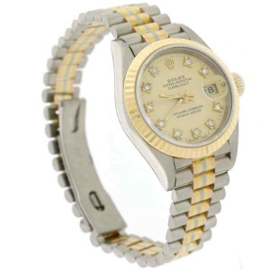 Rolex Tridor Datejust Ladies Tri-Color 26MM Original Champagne Diamond Dial Pres