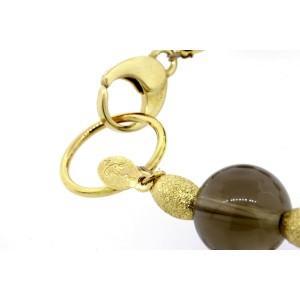"Zoë by Zoe Chicco Bracelet Smoky Quartz 18k Yellow Gold 7.25"""