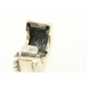 Retired Pandora ALE Sterling Silver Charm Spacer Beaded Sides Clip Stopper