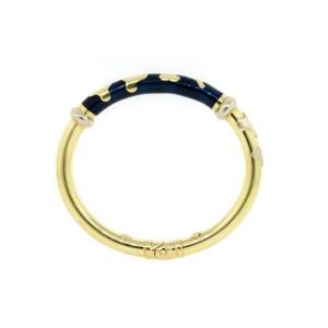 Soho Bracelet 18k Yellow Gold Dark Blue Enamel Bangle