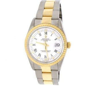 Rolex Oyster Perpetual Date 2-Tone 18K Yellow Gold/Stainless Steel 34MM Factory