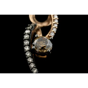 Levian Chocolate Diamond Pendant Necklace Swirl Twist 14k Rose Gold