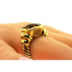 David Yurman Noblesse Yellow Citrine 18k Gold Ring sz 6 Heavy 17.4g