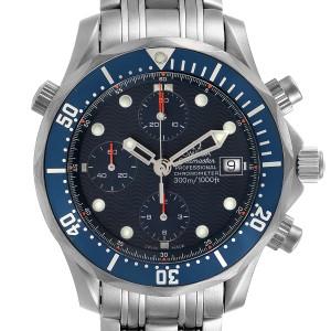Omega Seamaster Chrono Diver Blue Dial Titanium Mens Watch 2298.80.00
