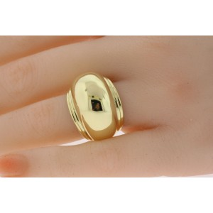 Tiffany & Co. Ring Paloma Picasso Domed Shell Band 18k Gold 17.4g sz 6.75