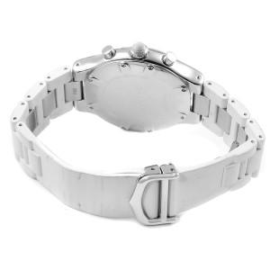 Cartier Must 21 Chronoscaph White Rubber Unisex Watch W10184U2