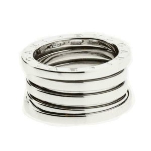 BVLGARI Women's B.ZERO1 4 band ring in 18K white gold - size US 8.5 - Italy 58