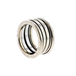 Bulgari Wedding Band Ring B.Zero1 18k White Gold 4 row sz 51 US 5.5