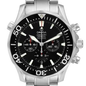 Omega Seamaster Chronograph Black Dial Watch 2594.52.00 Card