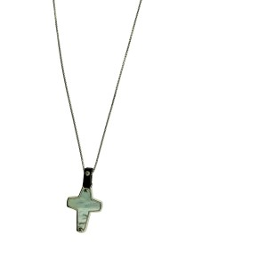 Stephen Webster England Made Me mother of pearl Cross Pendant silver unisex