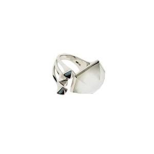 Stephen Webster Superstud Crystal Haze Mother of pearl ring size 7