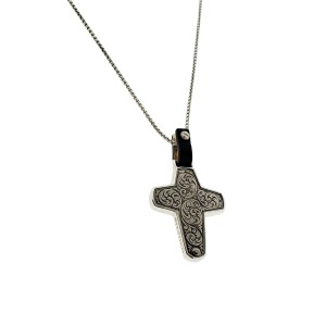 Stephen Webster England Made Me black mother of pearl Cross necklace