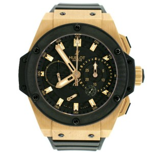 Hublot King Power 48MM Rose Gold Limited Edition Watch w/Split Second Black Dial