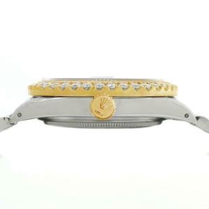 Rolex Datejust 36mm 2-Tone WATCH/3.10ct Diamond Bezel/Maroon Vignette Roman Dial