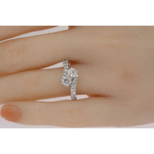 Ever Us 1.5ct Diamond Engagement Ring 14k White Gold sz 7.25 Best Price Anywhere
