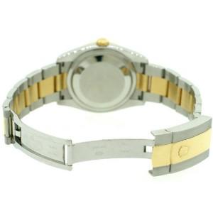 Rolex Datejust 36mm 2-Tone Oyster/Custom White MOP Diamond Dial & 1.1Ct Bezel