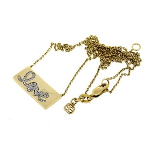 "Sydney Evan Pave Diamond Love Bar Pendant Necklace 16"" 18"" $1595"