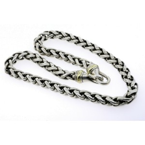 David Yurman Wheat Chain Necklace 8mm 14k Gold Sterling Silver 18""