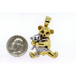 Ralston Diamond Teddy Bear Pendant Necklace Pin Brooch Limited 8/50 18k